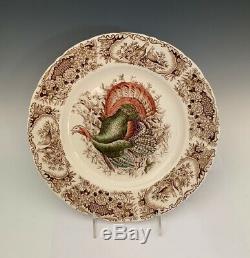(10) Johnson Brothers Native American Windsor Ware Wild Turkeys Dinner Plates