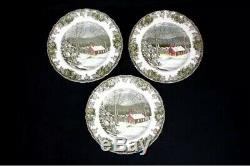 11 Pc. Johnson Bros. The Friendly Village School House Dinner PlatesMint