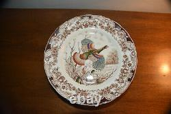 11 Windsor Ware WILD TURKEYS Dinner Plates 10 1/2 inches by Johnson Brothers Vin