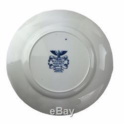 12 Johnson Brothers Historic America Thanksgiving Frozen Up Blue Dinner Plates