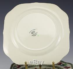 12pc Johnson Bros Indian Tree Square Porcelain Salad Plates Hand colored floral