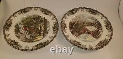 13 Johnson Brothers Friendly Village England Dinner Plates 12 Different