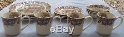 16 Pcs, Set for 4 Johnson Brothers His Majesty Turkey Dinnerware New and Mint