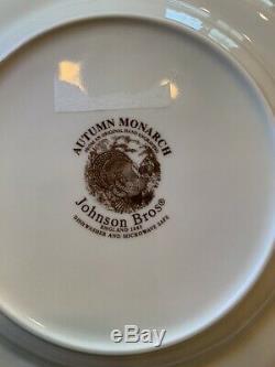 16 Piece Set With Service Johnson Brothers Autumn Monarch Dinnerware