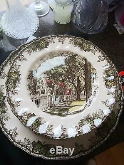 18 Johnson Brothers Friendly Village Dinner Plates All Different Made in England