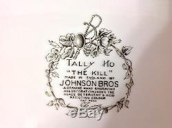 1950-70 Johnson Bros Eng Lg Oval Platter in Tally Ho, The Kill Pat Mint Cond