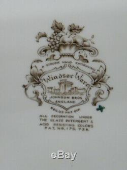 1960's Johnson Bros. Windsor Ware Fruits & Flowers Harvest 20 Oval Platter Mint