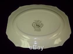 20'' Very Rare Green Mark Johnson Bros Woodland Wild Turkey Windsor Ware Platter