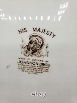 20 x 16 Johnson Bros. England His Majesty Thanksgiving Turkey Platter