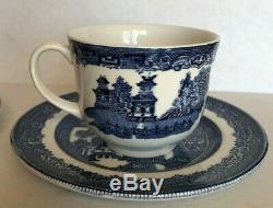 21 Pcs NEW VTG Authentic JOHNSON BROS 1940 Blue WILLOW DINNERWARE SET 4settings