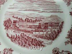 22pc Vintage Johnson Bros Brothers England Plates Set Earthenware Castles Pink
