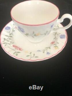 24 Pcs Plate Antique China Johnson Bros England Pink Roses Summer Chintz