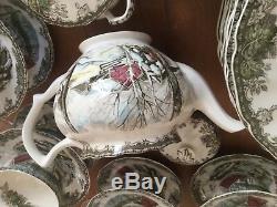 $250 Johnson Bros. England Friendly Village Sugar Maple 4-1/4 3 Cup Teapot MINT