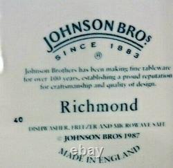 2 JONHSON BROTHERS RICHOMND WHITE 5 PIECE PLACE SETTINGS (Free Shipping)