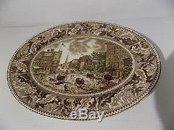 2 Johnson Brothers Historic America Multi Colored Serving Platters