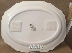 3pc Vtg Johnson Brothers The Friendly Village XL Soup Tureen Lid & Lg Tray