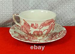 44-piece Set Of Johnson Brothers English Chippendale-red-pink Pattern China