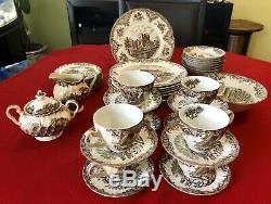45-pc JOHNSON BROTHERS Ironstone HERITAGE HALL England 4411 Dishes service for 8