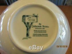 46 Pc Set FRIENDLY VILLAGE Johnson Bros Brothers DINNERWARE & Serving Pieces