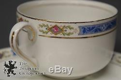48 Piece Johnson Brothers England China Dining Set Blue and Green Floral Bone