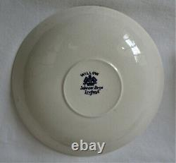 4 x Johnson Brothers England Willow Double Handled Cream Soup Bowl & Saucer Sets