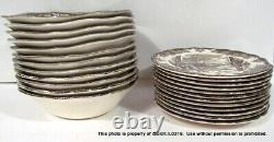 59-PC THE FRIENDLY VILLAGE Johnson Bros CHINA 12 Place Settings Approx ENGLAND