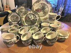 68 Pcs Johnson Brothers Friendly Village Dinnerware Made in England