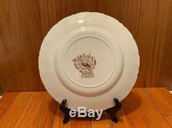 6 Johnson Bros Wild Turkeys Native American Windsor Ware Dinner Plates10 5/8