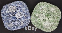 6 Johnson Brothers Liberty Tiffany Co Chintz Porcelain Square Salad Plate Set
