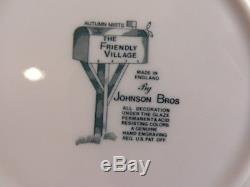76 PCS of Vintage Johnson Bros. The Friendly Village Mix Patterns China Green