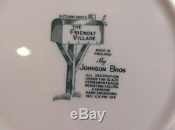 76 PCS of Vintage Johnson Bros. The Friendly Village Mix Patterns China Green