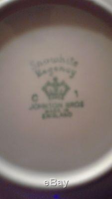 80 piece set neverused johnson Brothers Snowhite Regency Ironstone White england