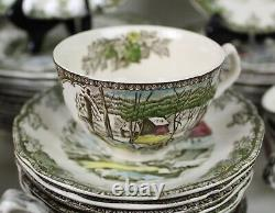 89 pcs Johnson Brothers FRIENDLY VILLAGE China Service for 12 + Extras ENGLAND