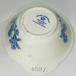 8 Johnson Bros ENGLISH CHIPPENDALE BLUE 6 LUG CEREAL BOWLS