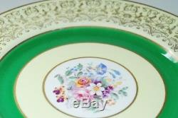 8 Johnson Brothers Pareek Green & Gold Dinner Plate Plates L@@K Floral
