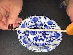 Antique Blue Onion Flow China Holland Johnson Bros. England Partial Collection