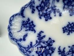 Antique Johnson Bros. CLAREMONT Flow Blue 14 1/2 Deep Platter c. 1885 EUC NICE