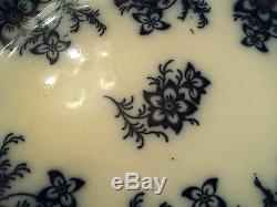 Antique Johnson Bros. Flow Blue 13 Oval Platter Claremont Pattern