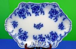 Antique Johnson Bros. Flow Blue Claremont 16 Oval Serving Platter