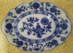 Antique Johnson Brothers 16 Oval Serving Platter Holland (flow Blue)