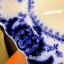 Antique Johnson Brothers Florida Flow Blue Serving Platter