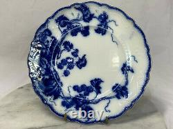 Antique Kenworth (Flow Blue) by Johnson Brothers, Set of 2 Salad Plates, 1900's