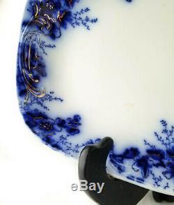 Antique Platter, Johnson Brothers Flow Blue, 14 Royal Peach Server