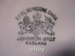 Antique Royal Ironstone China Wash Basin and Pitcher Johnson Brothers ENGLAND