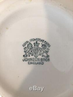 Antique Royal Ironstone Johnson Bros. England White Ironstone Pitcher
