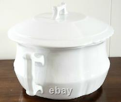 Antique White Ironstone Lidded Chamber Pot Johnson Brothers England Early 1900