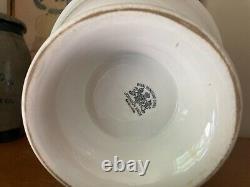 Antique White Royal Ironstone China Pedestal/Footed Bowl Johnson Bros. England