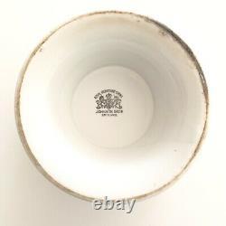 Antique White Royal Ironstone Pedestal Footed Bowl Johnson Bros England