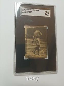 BIG SHOW CANDY WALTER JOHNSON SCHAPIRA Brothers 1921-1922 SGC Good 2 -pop 1