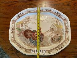 Beautiful, Huge Johnson Brothers Barnyard King Serving Turkey Platter